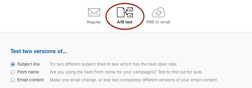 A/B testing to optimize open & click through rates