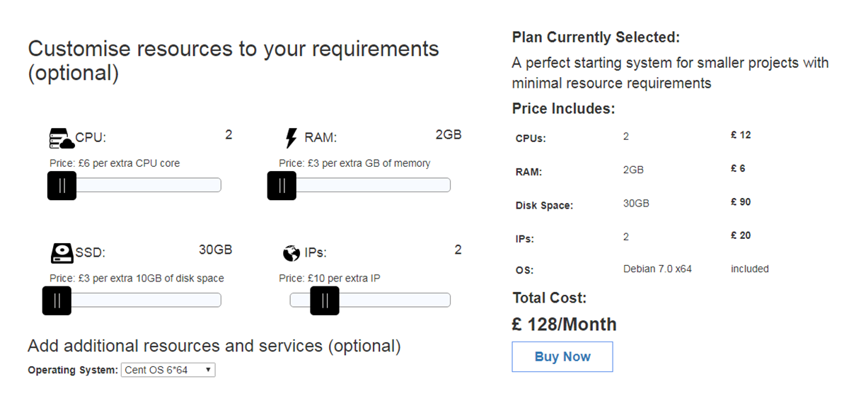 How to create a customized pricing plans using slider in html